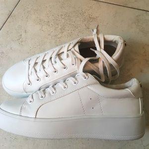 Steve Madden platform white sneakers
